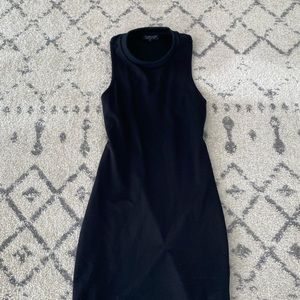 Black form fitting mini dress